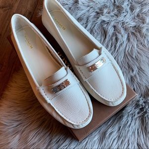 Coach | Fredrica Leather Driving Loafers Chalk 10